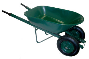 two wheel wheel barrow